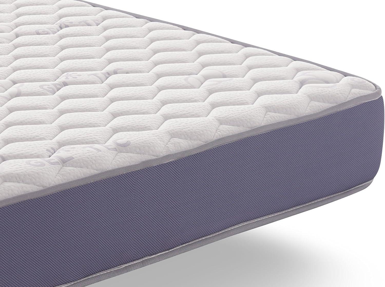 Naturalex | Geltec | Colchón 135x190 Cm Viscoelástico Gel Fresh | AeraPur Máxima Transpiración Constante | Soporte Optimo Adaptación Superior | BlueLátex Última Generación | 7 Zonas de Confort