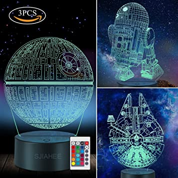 Amazon Com 3d Star Wars Lamp Star Wars Gifts Star Wars Light