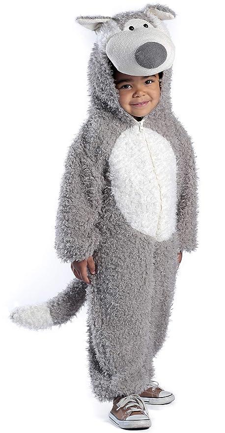 Amazon.com: Disfraz de lobo malo grande, Gris/Blanco: Clothing