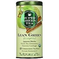 The Republic of Tea Lean Green Supergreen Tea, 36 Tea Bags, Matcha And Garcinia...