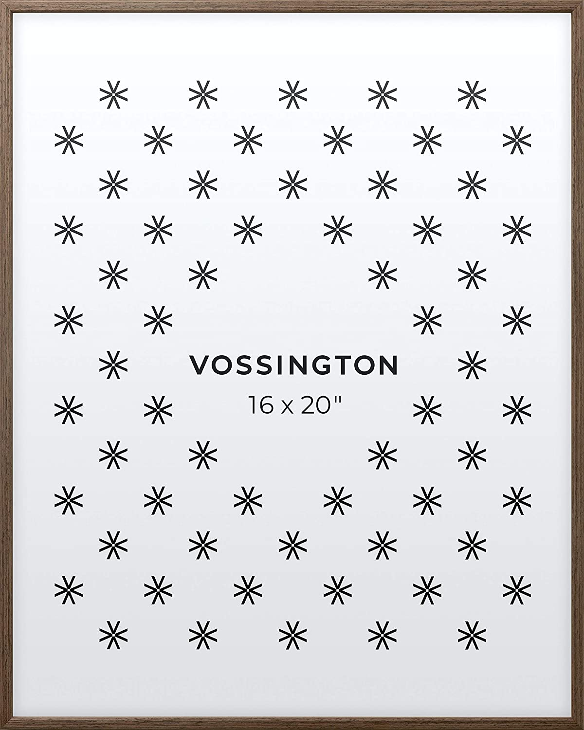 Vossington 16x20 Frame | Exclusive Exotic Wood Picture Frame | 16 x 20 Inch | Thin Modern Look