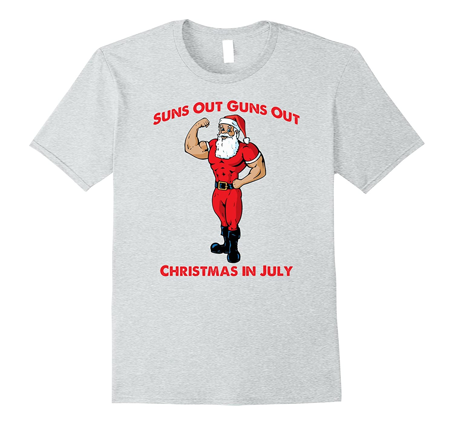 Suns Out Guns Out Christmas In July TShirt for Men Boys Kids-TH ...