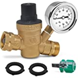 Morvat RV Water Pressure Regulator, Camper, Trailer, Water Pressure Gauge Valve with Included Screwdriver and 2 Rubber…