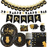 OrangeDolly Wildone Theme Banner, Garland, Cupcake Toppers, Napkin, Plates | Wild Thing Party Supplies | Where The Wild Things (Banners,Garland,Tags &Tableware)