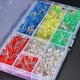 KINGSO 500x 5mm LED Leuchtdioden Dioden Elektronikkomponenten rund 5 Farben(100er Jede Farbe)