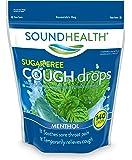 SoundHealth Sugar-Free Cough Drops, Cough Suppressant Throat Lozenge, Menthol, 140 Count Bag