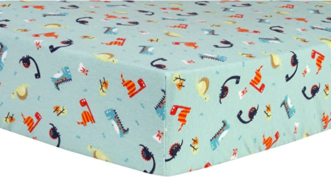 Trend Lab Dinosaurs Deluxe Flannel Fitted Crib Sheet Amazon Ca Baby
