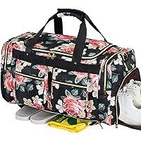 BLUBOON Weekender Overnight Duffel Bag Shoe Pocket for Women Men Weekend Travel Tote Carry On Bag