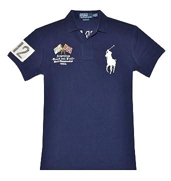 Ralph Lauren Navy Pony Usa Rugby Crossed-Flags Big