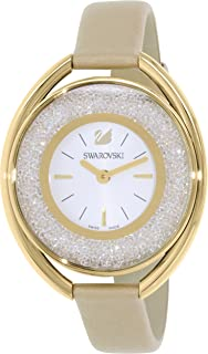 Amazon.com  Ladies  Swarovski Crystalline Hours White Watch 5295383 ... 80afeb33be0