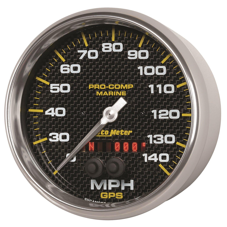 140Mph Marine White Auto Meter AutoMeter 200647 Gauge Speedometer 5 GPS
