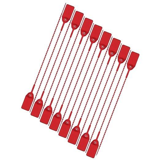 Xhuan - Lote de 200 Rojo Seguridad Junta Pull Corbata Etiquetas ...