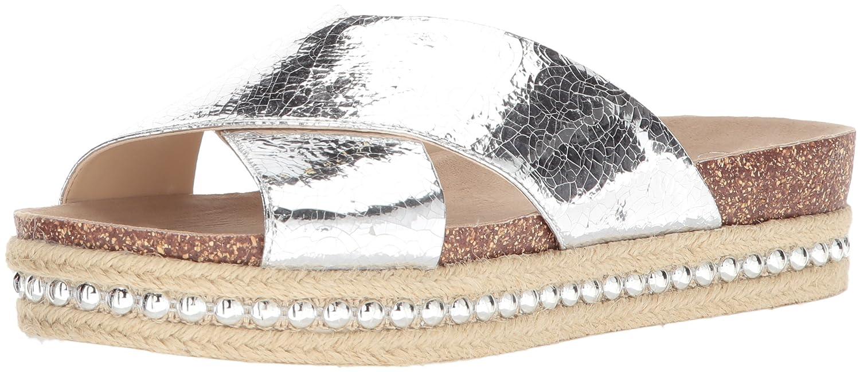 Jessica Simpson Women's Shanny Slide Sandal B078JRLHNY 5 B(M) US|Platinum