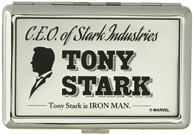 Amazon buckle down business card holder ceo of stark buckle down business card holder ceo of stark industries tony stark brushed silver colourmoves
