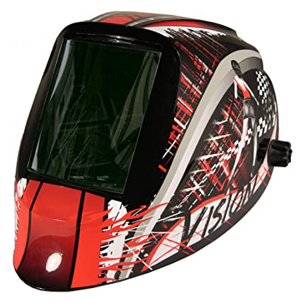 ArcOne V-1523 Vision Welding Helmet with Passive Shade10 Filter, Speedway - - Amazon.com