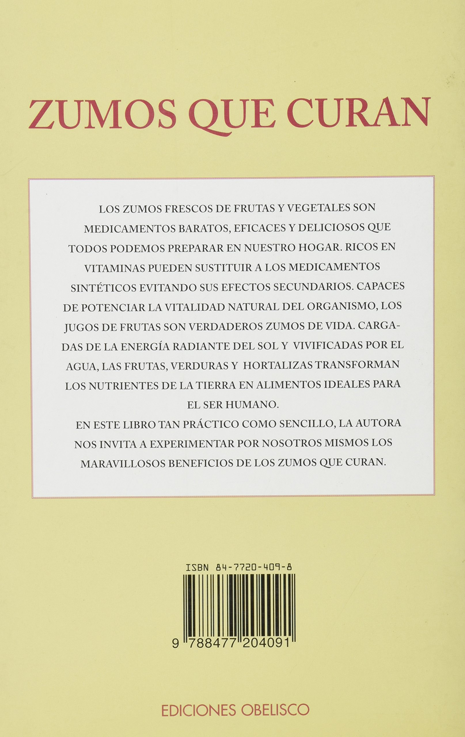 Zumos Que Curan / Curing Juices (Salud Y Vida Natural / Natural Health and Living) (Spanish Edition): Sarah Williams: 9788477204091: Amazon.com: Books