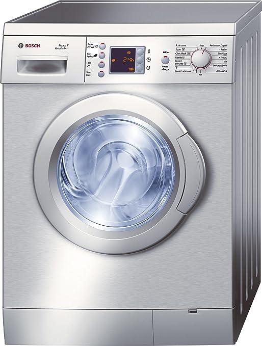 Bosch WAE2449XEP - Lavadora (Independiente, Carga frontal, Acero inoxidable, 7 kg, 1200 RPM, A): Amazon.es: Hogar