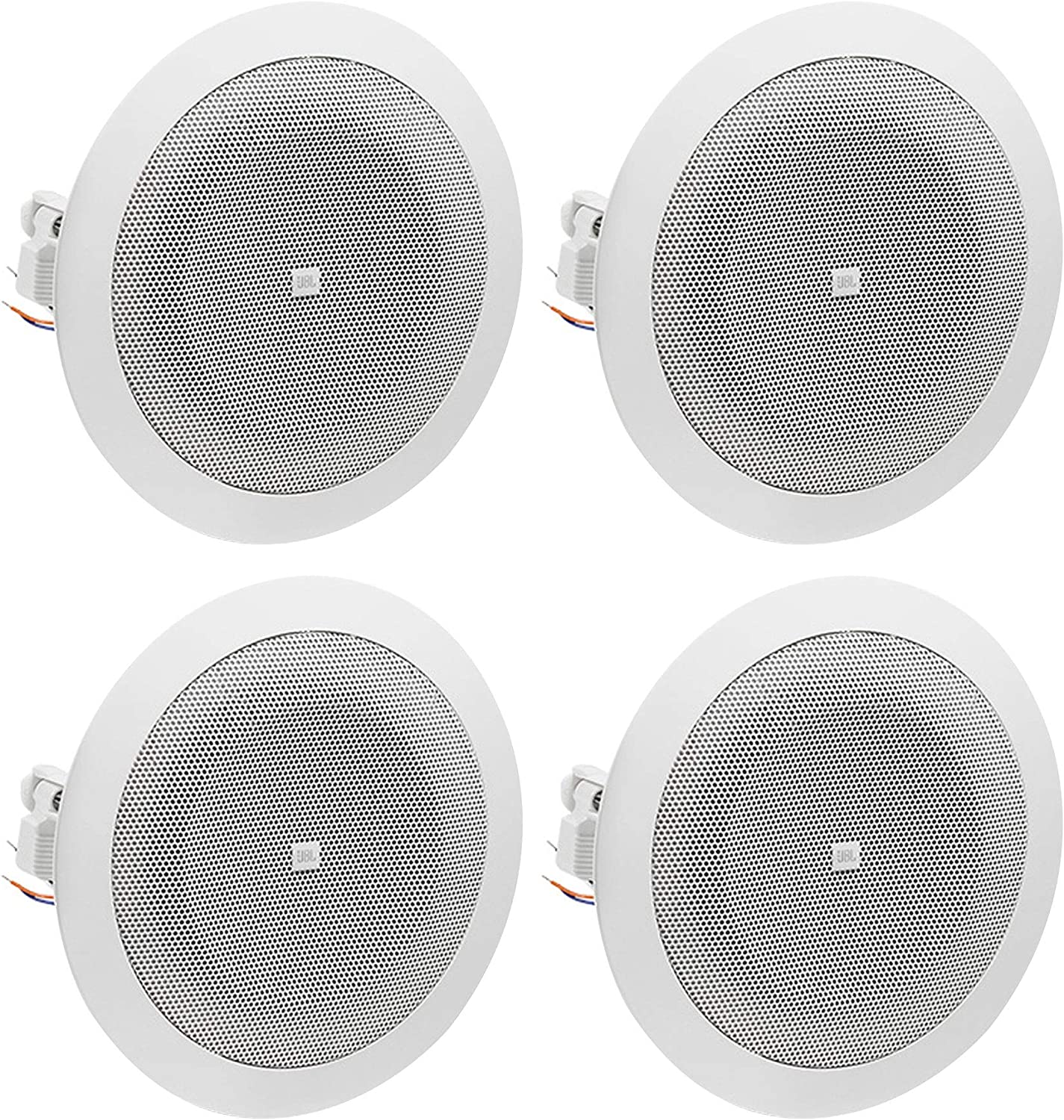 JBL 8124 - Full-Range In-Ceiling Loudspeaker with 70 Volt/100 Volt Taps (4 Pack)