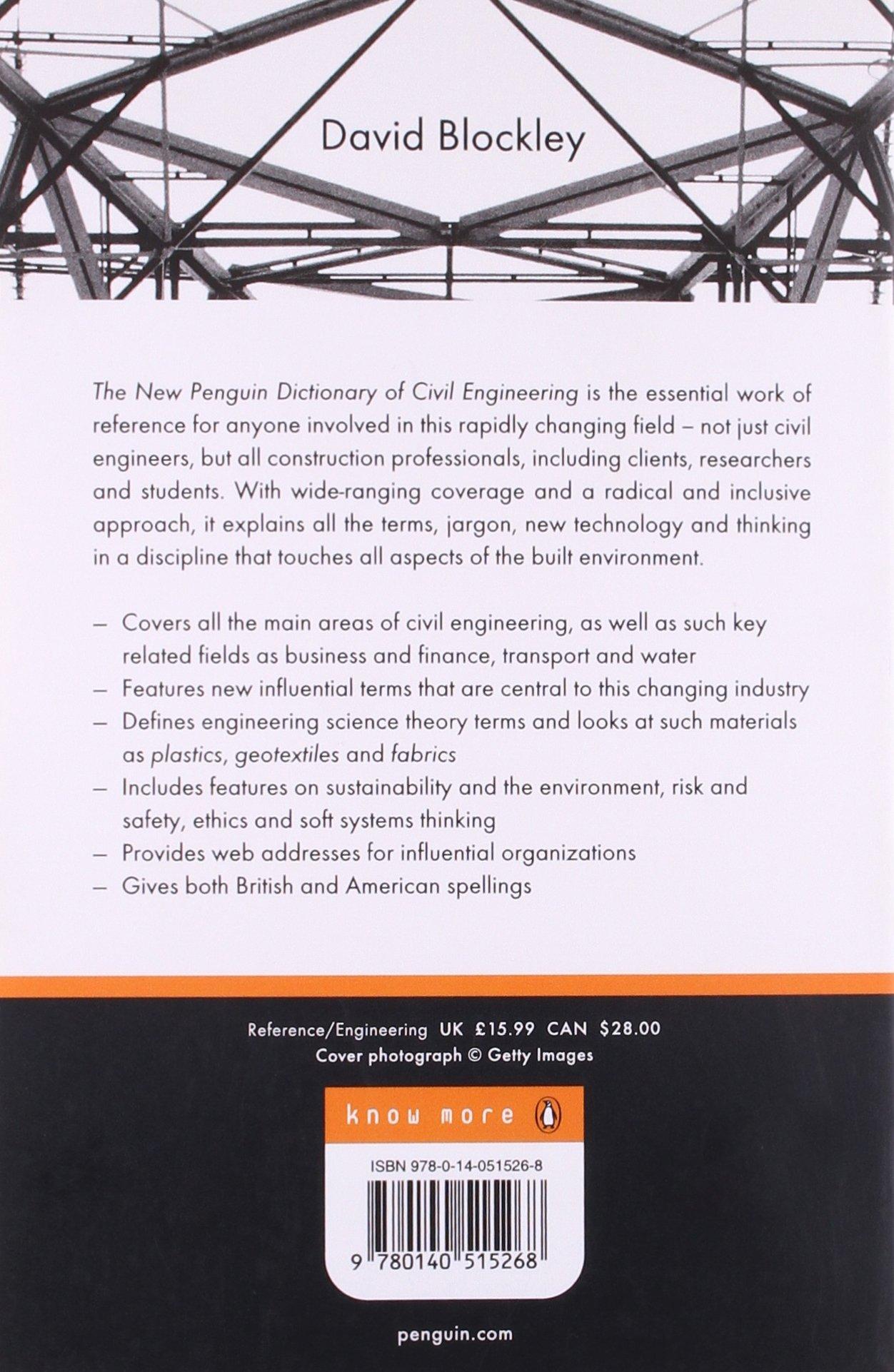 Penguin Dictionary of Civil Engineering: David Blockley ...