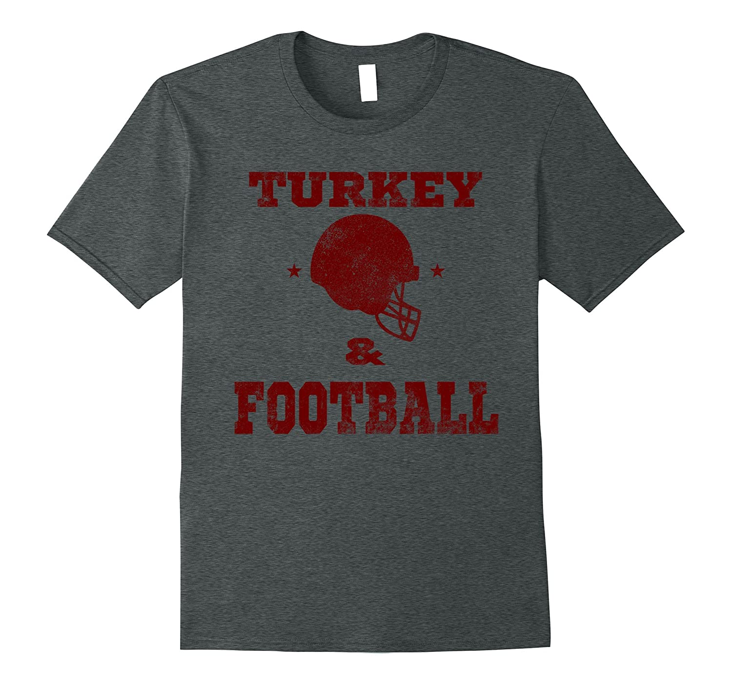 Thanksgiving Football Shirt - Turkey and Football Red-ANZ