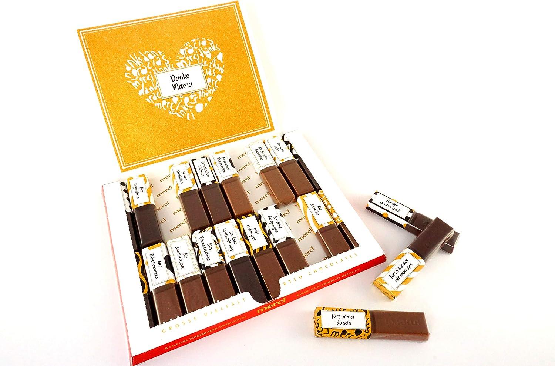 SURPRISA Juego de pegatinas para Merci Chocolate – Gracias, regalos creativos para amiga, amiga, madre, padre, pequeñas pero personales, ideas de regalo, pequeño regalo para el pareja, color Mama/Papá