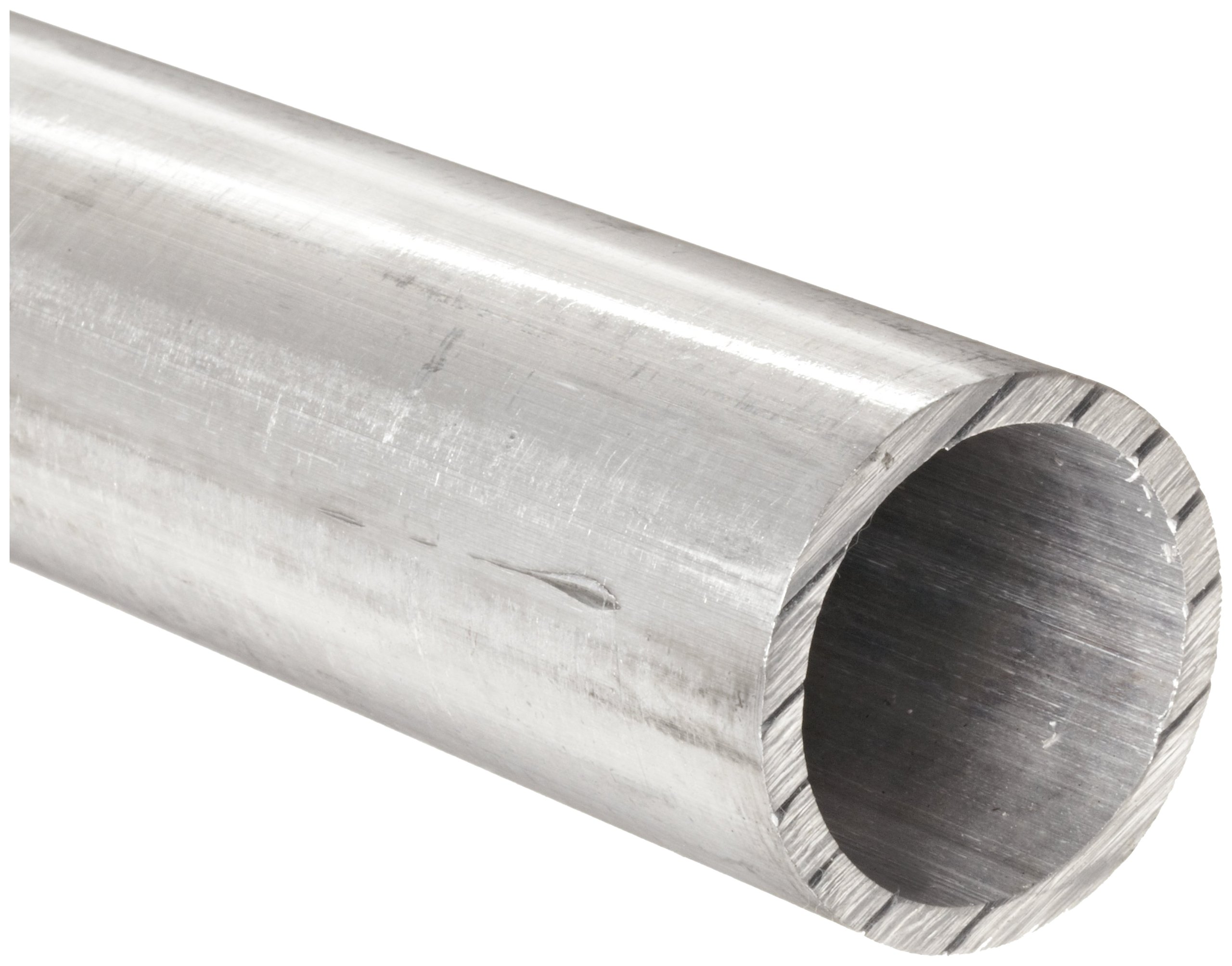 Aluminum 6061 Seamless Round Tubing, 7/8'' OD, 0.777'' ID, 0.049'' Wall, 36'' Length