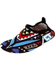 LONSOEN Toddler Boys and Girls Water Shoes Foldable Non-Slip Aqua Sandals(Toddler/Little Kid)