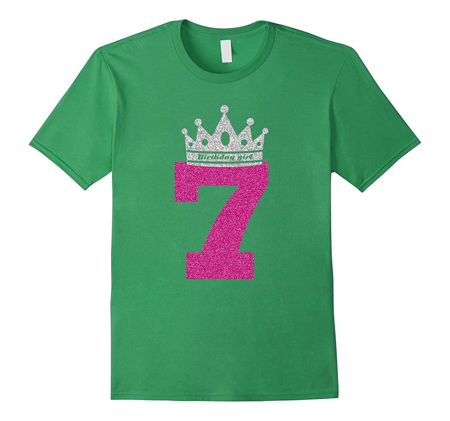 7th Birthday Shirts For Girls Princess Crown T Shirt Art
