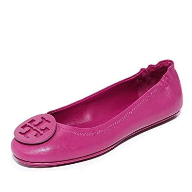 12cda80e666 Amazon.com | Tory Burch Women's Minnie Travel Ballet with Logo | Shoes