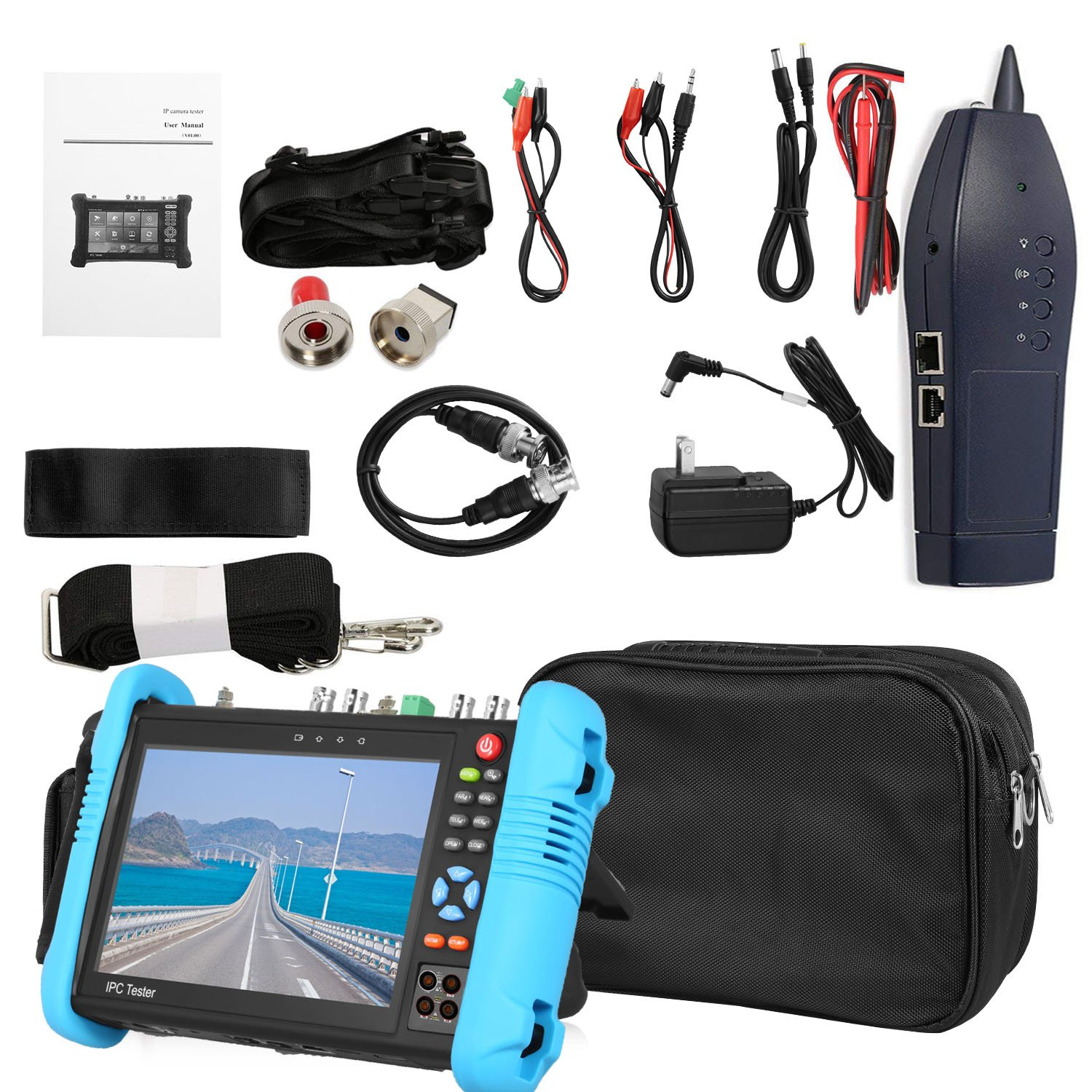 SGEF 7 inch All in One IPS Touch Screen IP Camera Tester Security CCTV Tester Monitor with SDI/TVI/AHD/CVI/POE/WIFI/4K H.265/HDMI in&Out/RJ45-TDR/OPM/VFL 9800MOTVADHS by SGEF (Image #2)