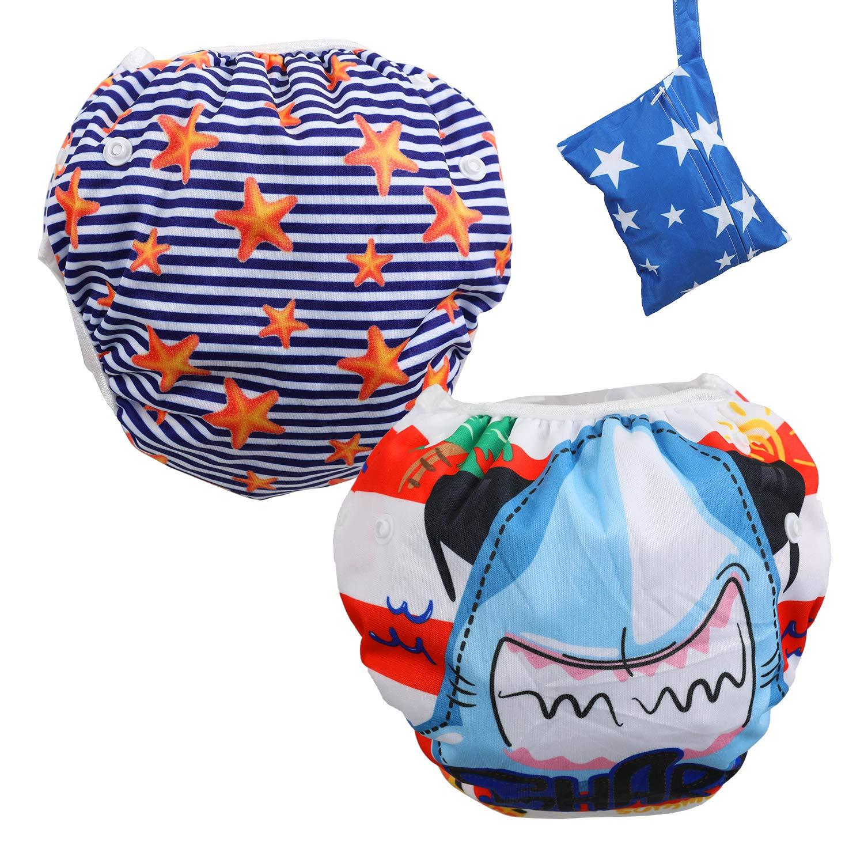 Lictin schwimmwindel Baby 2-teilig Baby Schwimmhose Baby Badewindelhose schwimmwindel junge f/ür Kleinkinder