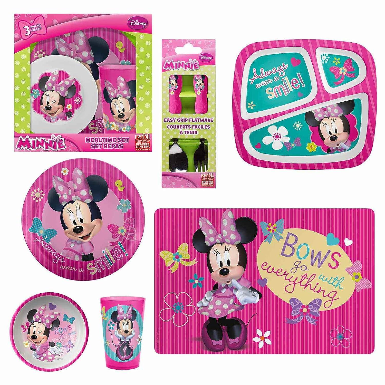 Amazon.com Zak Designs Minnie Mouse 3-Piece Plate Bowl and Tumbler Set Kitchen u0026 Dining  sc 1 st  Amazon.com & Amazon.com: Zak Designs Minnie Mouse 3-Piece Plate Bowl and Tumbler ...