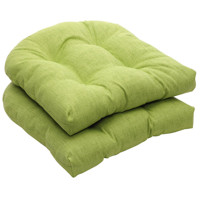 Pillow Perfect Indoor/Outdoor Green Textured Solid