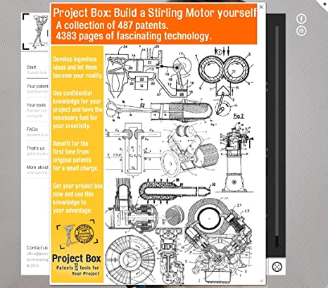 Build a Stirling motor yourself: Your project box includes