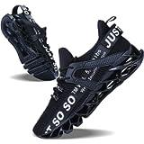 JSLEAP Mens Running Shoes Walking Non Slip Blade Type Sneakers