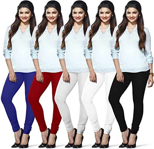 LUX LYRA Womens Indian Churidar Leggings Pack Of 3