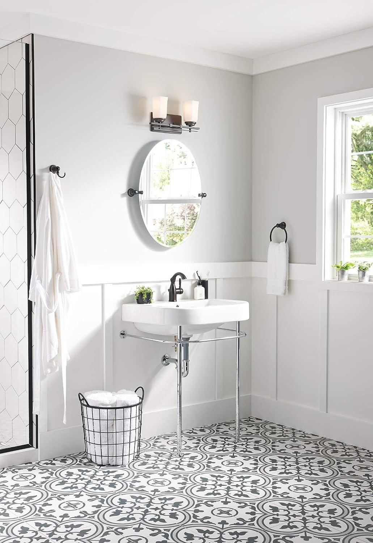 Moen 84144brb Sarona One Handle Single Hole Rustic Farmhouse Bathroom Sink Faucet With Optional Deckplate Mediterranean Bronze Dprd Tasikmalayakab Go Id