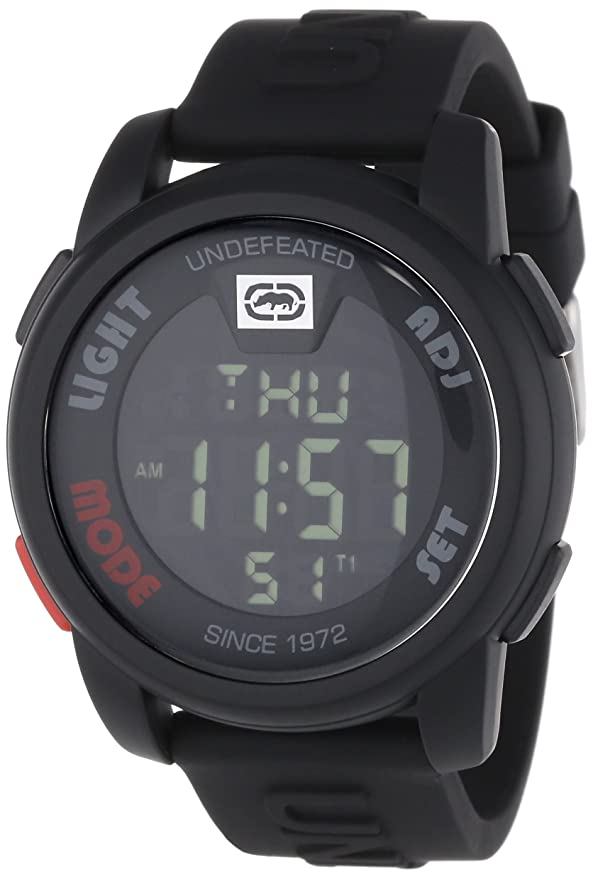 Amazon.com: Marc Ecko Mens E07503G1 20-20 Digital Black Resin Strap Watch: Marc Ecko: Watches