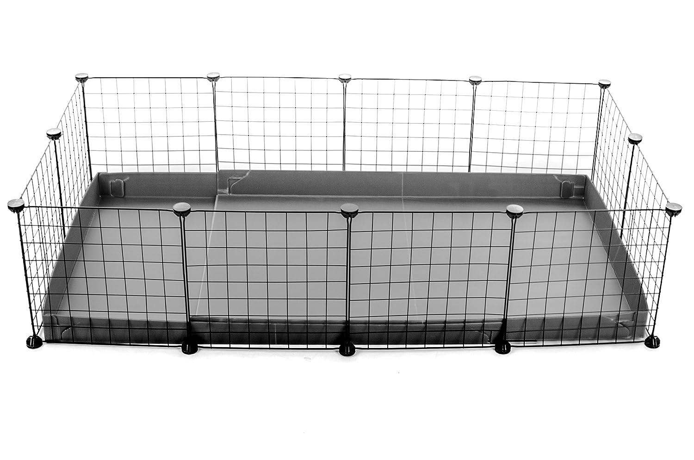 Kavee Cavy Cage coroplast Metal Grilles modulaire modulable loft Fond Accessoire Rongeur Cochon D'Inde Lapin Nac