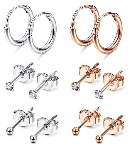 Mädchen CZ Ohrpiercing Ohrringe aus Ohrringen Silber Gold Schmuck für Körper