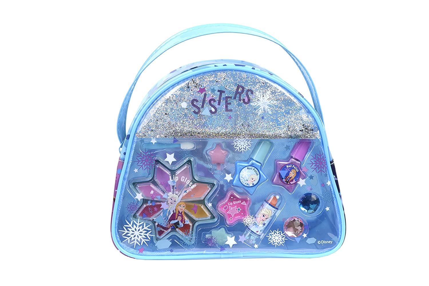 DISNEY FROZEN Snow Magic Beauty Bag Kit Maquillage pour Enfant 1 Rouge à Lèvres 8 Gloss 2 Vernis Accessoires 9800310