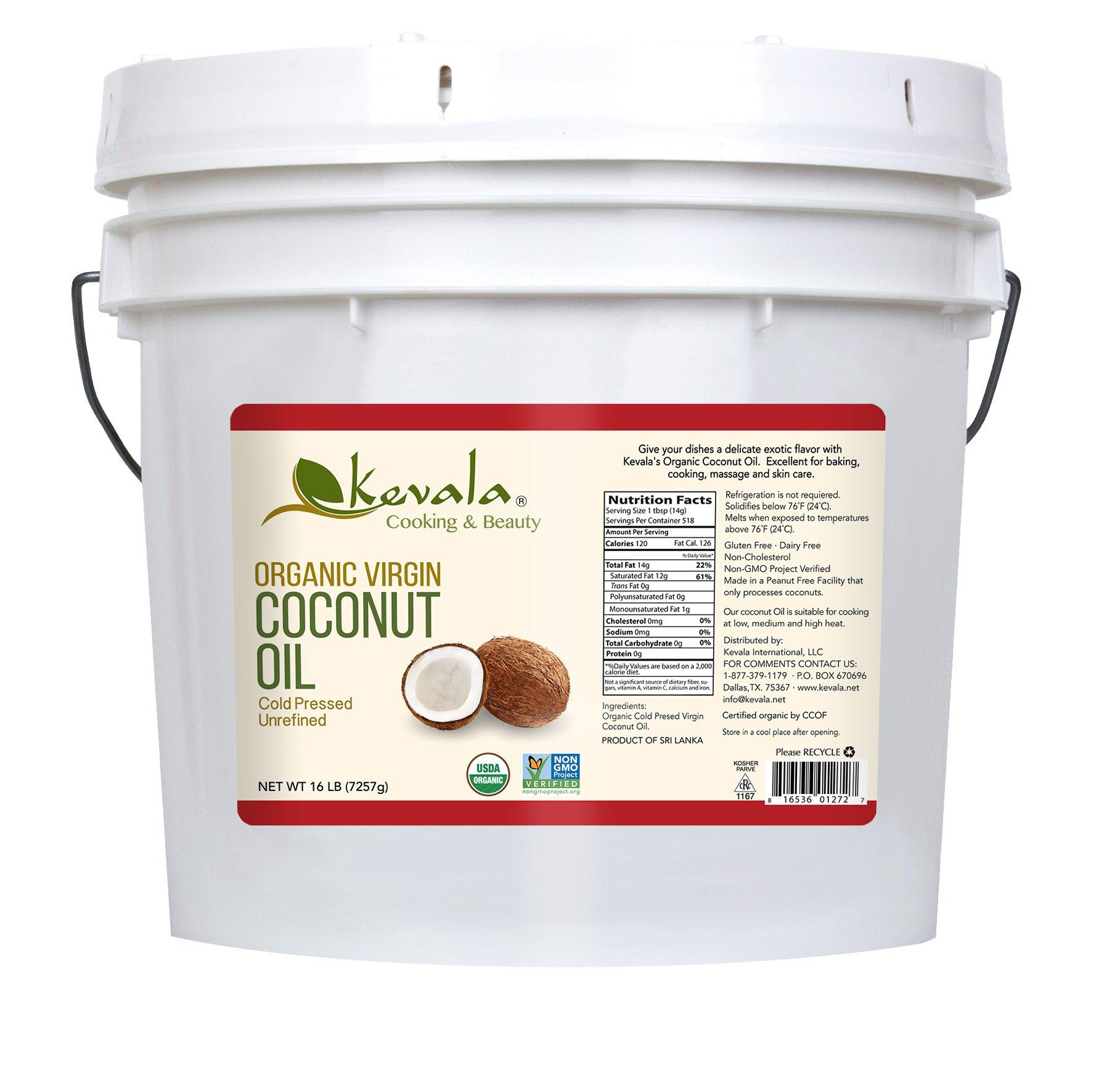 Kevala Organic Coconut Oil, 16 Pound