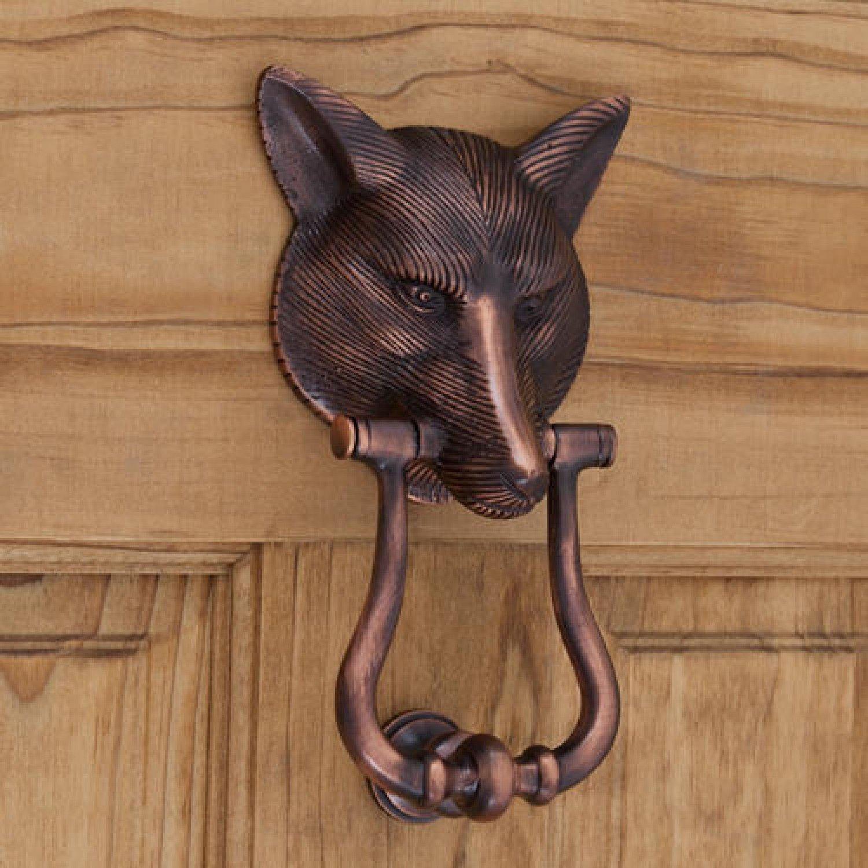 Casa Hardware Brass Fox Door Knocker in Oil Rubbed Bronze Finish