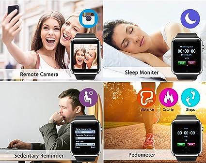 Fantime SmartWatch Relojes Inteligentes Deporte Relojes Relojes Pulsera Anti-perdida Soporte Llamada/Mensaje/Bluetooth/Facebook/Twitter/ Internet/ Cámara ...