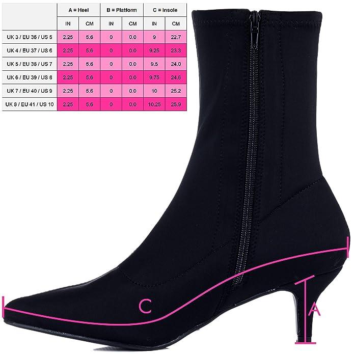 2526d0f60084 Spylovebuy AVERYY Women s Kitten Heel Ankle Boots Shoes  Amazon.co.uk   Shoes   Bags