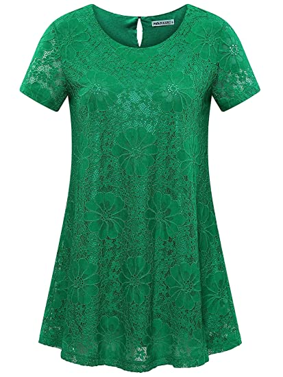 STUNNING  LACE LACY TOP  FULLY LINED SHORT SLEEVE 5 COLOURS SIZE  M  L  XL  XXL