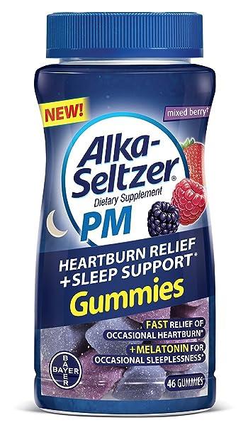 Amazon.com : Alka Seltzer PM Heartburn Relief Plus Sleep Support Chews, 46 Count (1 Bottle) : Beauty