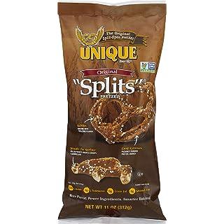 Unique Pretzels - Original Splits Pretzels, Delicious Vegan Snack Pretzels Individual Pack, Large OU Kosher Pretzels, 11 Ounce Bag, 1 Pack