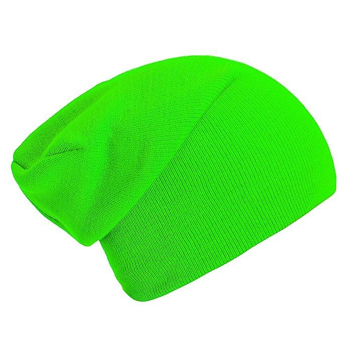 Gorro clásico barato de color verde neón
