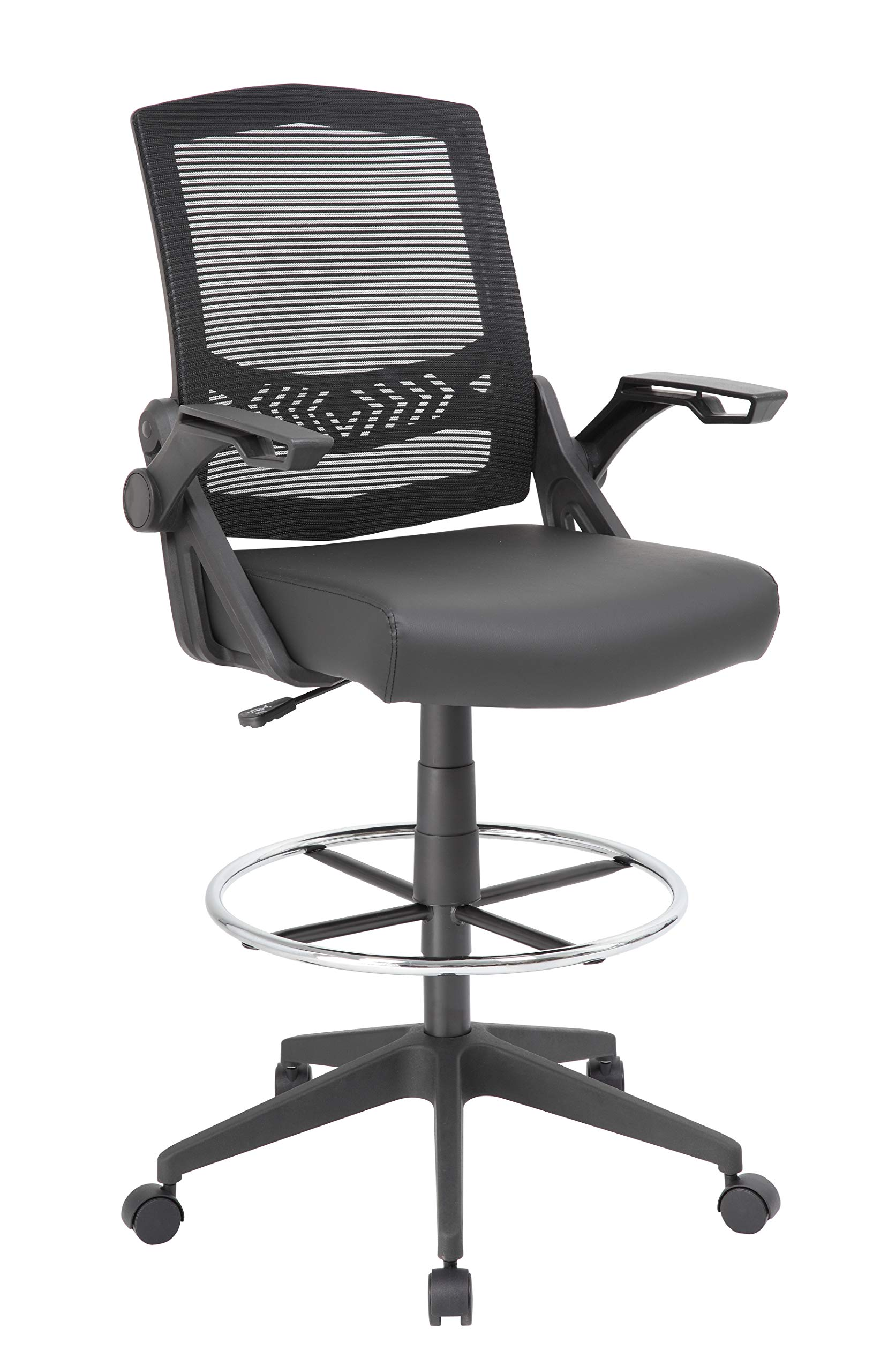 Boss Office Products Drafting Stool with, Black by Boss Office Products